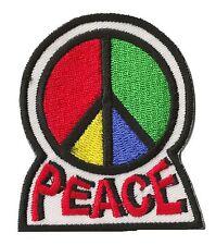 Badge écusson patche Peace & love 70's thermocollant patch brodé