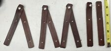Vintage Leather Straps w/slide buttons(qty 10) New old stock  Sheaths,Crafts