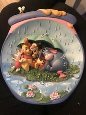 """New Listing3D Bradford Exchange Winnie """"The Pooh Plate It's Just A Small Piece Of Weather�"""