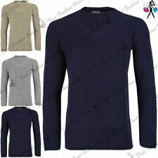 Unbranded Men's Chunky, Cable Knit Knit Crew Neck Jumpers & Cardigans