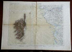 Corsica Western France Nantes La Rochelle Rochefort 1875 Lemercier large map