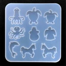 Marine Life Silicone Mold Sea Turtle Octopus Angel Dolphin Horse Resin Supplies