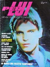 PER LUI 18 1984 Condé Nast Moda Anni 80 Fashion Miguel Bosé Didier Malige