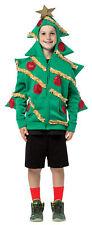 Green Hoodie Christmas Tree Teen Costume Red Sequin Ornaments Rasta Imposta