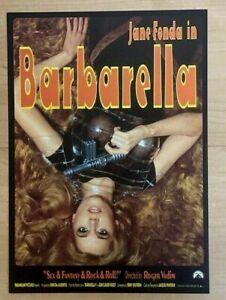 BARBARELLA (1968) - JAPAN Chirashi/Mini-Poster - VERY RARE! BONUS! Re-Release