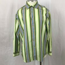 Indigo Palms Tommy Bahama Men's Long Sleeve Button Up Cotton Striped Shirt XL