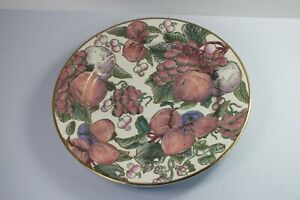 """Fruits Temptation Natural Hand Painted Porcelain Decorative Plate by TOYO 10"""""""