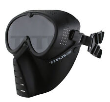 TITUS MS1 ATV OFF-ROAD Full Face Mask w/ Integrated Googles (Vented) Shield