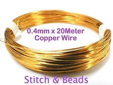 Copper Jewellery Beading Wire 0.4mm x20Meter 26 Gauge Metal Craft Finding Tiaras