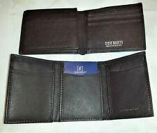 2 Brown Wallets 1 EUC Steve Madden Fine Pebble Leather RFID Bifold 1 NEW George