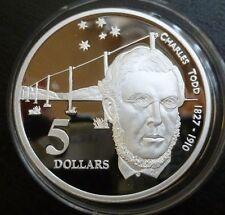 Australia Argento Sterling a prova di 5 DOLLARI 1995 Charles TODD (ASW 1.06oz)