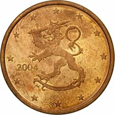[#437870] Finland, 5 Euro Cent, 2004, ZF, Copper Plated Steel, KM:100