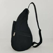 Ameribag Healthy Back Bag Black Nylon Water Resistant Sling One Shoulder Medium