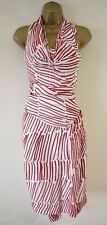 £1725 VIVIENNE WESTWOOD GOLD LABEL 8 Striped Silk Corset Draped Party Dress