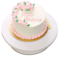 ROTATING CAKE ICING DEOCRATING REVOLVING KITCHEN DISPLAY STAND TURNTABLE 28CM