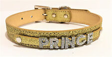 Personalized Dog Collar with FREE NAME Custom Collar FREE 6 Rhinestone Charms