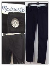 Madewell Skinny Skinny Black Jeans B1382 Women's 32 X 29 Straight Taper Ankle