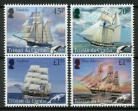 Tristan da Cunha Ships Stamps 2019 MNH Whaling & Sealing Boats Nautical 4v Set