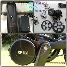 Electric Bike,48v 500W Bafang Mid Motor Drive 8fun kit W/ 48V 12ah Battery