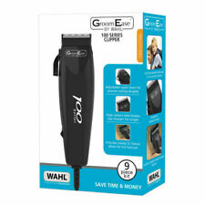 Wahl GroomEase 100 Series Hair Corded Clipper Professional 9 Pieces Kit - Black