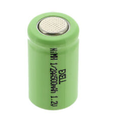 1/2AA 1.2V  Rechargeable Flat Top Battery  For DIY, FRS, Keypads, Alarms