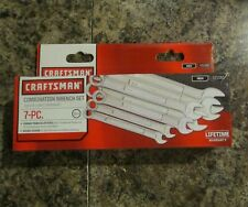 Craftsman 7 pc.12-Point INCH Combination SAE Wrench Set 9-21085 W/Storage Pouch