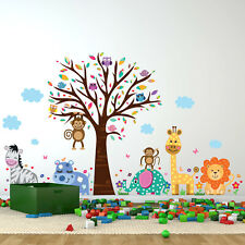 Walplus Wall Sticker Happy London Zoo Animal Tree Kids Art Decal Home Decoration