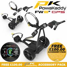 POWAKADDY FW5s LTD EDITION GPS ELECTRIC GOLF TROLLEY +FREE £100 ACCESSORY PACK