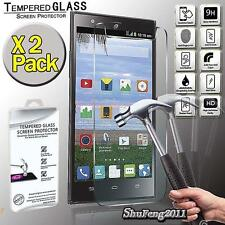 2 Pack Tempered Glass Film Screen Protector Cover For ZTE Lever