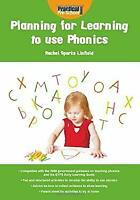 Planning for Learning to Use Phonics by Linfield, Rachel Sparks-ExLibrary