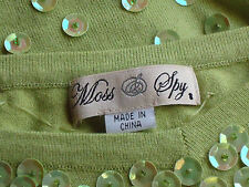 MOSS and SPY StrappyModalLyocellLycraSequinKnitSize8EUC