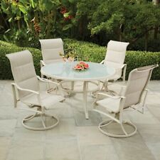 Hampton Bay 5 Piece Aluminum Patio Furniture Outdoor Dining Set Swivel Armchair