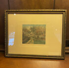 Vintage signed hand-colored framed photo print by Wallace Nutting - excellent!