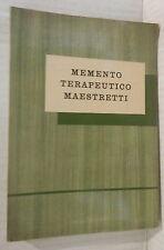 MEMENTO TERAPEUTICO MAESTRETTI 1960 Medicina Manuale Medicine Farmacologia di e