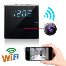 HD 1080P WiFi Real Table Clock Spy Camera Loop Record Motion Detect Night Vision