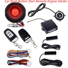 Keyless Entry Car Alarm System W/ Push Button Start Remote Engine Start Starter