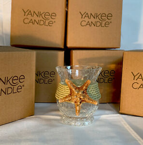 Yankee Candle Starfish Crackle Jar Candle Holder Beach, Nautical (12 Available)