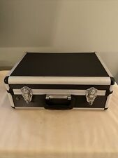 17 inch Aluminum Hard Case Briefcase Silver, Professional Carrying Case, MUST GO