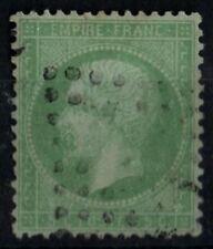 NAPOLÉON 35 vert pâle sur bleu, Oblitéré = Cote 230 € / Lot Classiques France