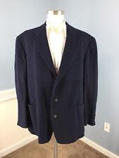 Vintage J Crew Navy Blue Sport Coat XL wool Cashmere Blend Excellent 3 button
