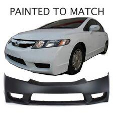 Painted to Match - Fits 2009 2010 2011 Honda Civic Sedan / Hybrid Front Bumper