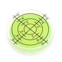 2PC 32*7mm Circular Spirit Bubble Degree Mark Surface Level Round Measuring Tool