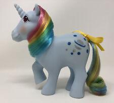 Vintage My Little Pony G1 MLP ~ MOONSTONE ~ Rainbow Unicorn ~ Excellent Symbols!