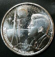 Apollo 11 Moon Landing Proof 1 oz .999 Fine Silver Kennedy $ PL Coin Mason Mint