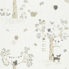 247206 - Bambino Foxes trees Beige Brown Galerie Wallpaper