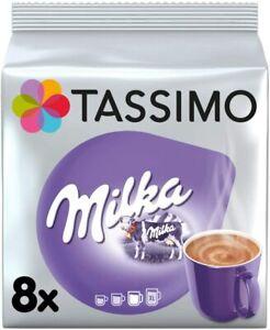 TASSIMO Milka Hot Chocolate T Discs Pods 4/8/16/24/32 Drinks - NEW
