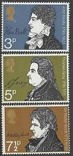 Great Britain 1971 LITERARY ANNIVERSARIES (3) Unhinged Mint SG 884-6