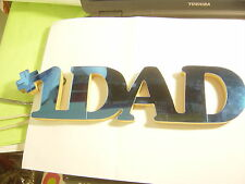 """Blue Wall Hang Sign by Russ """"#1 Dad�"""