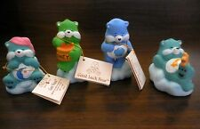 "4 VTG Care Bear 3"" Figurines  3 w original tags.Bedtime, Good Luck, Grumpy 53239"