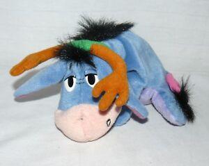 "Disney 7"" Holiday Eeyore Reindeer Antlers Christmas Stuffed Beanbag Plush Toy"